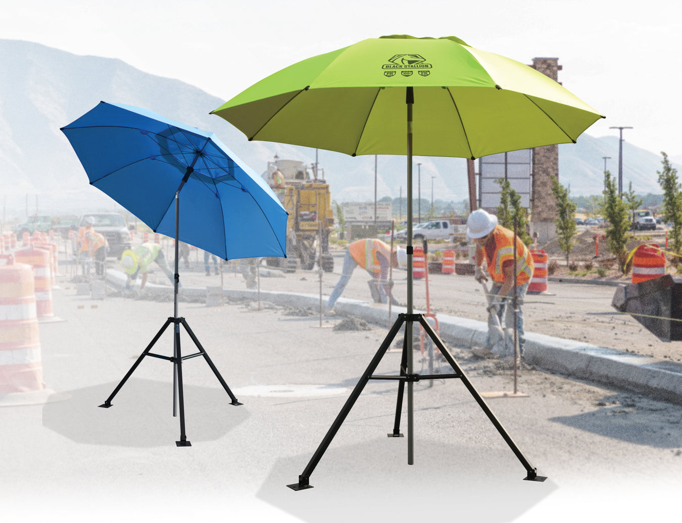 FR Welding Umbrellas offer sunlight protection and weld spatter protection