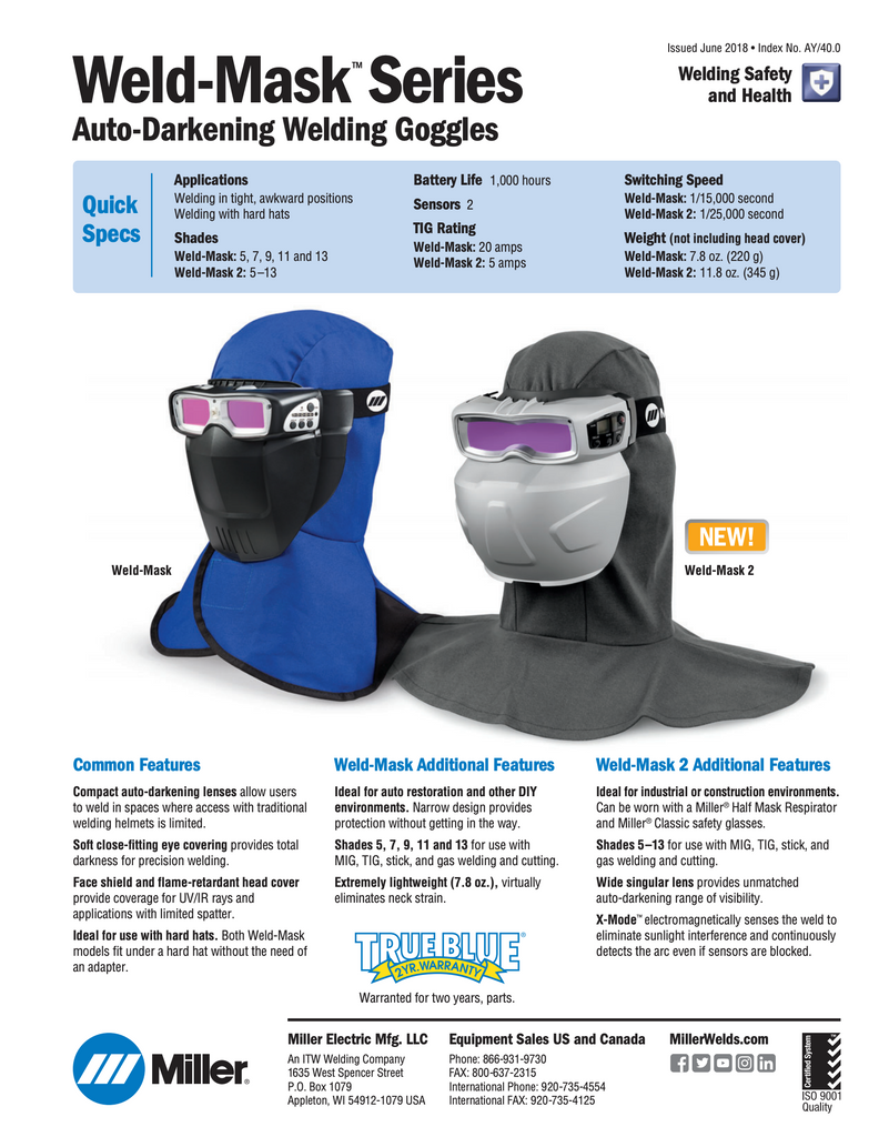 Weld Mask Spec Sheet