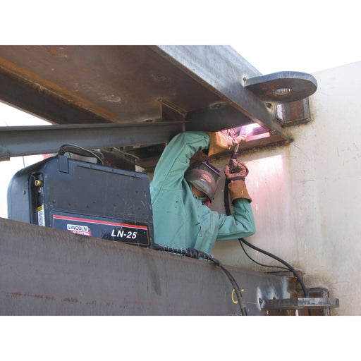 MIG welding with LN-25 Semiautomatic wire feeder