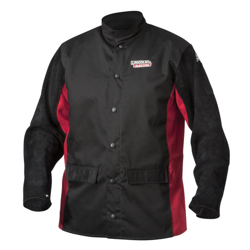 Lincoln Shadow Split Leather-Sleeved Welding Jacket - K2986