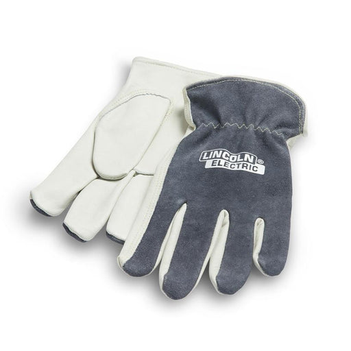 Lincoln Traditional Grey Leather Drivers Gloves - K3769 - Still Shot