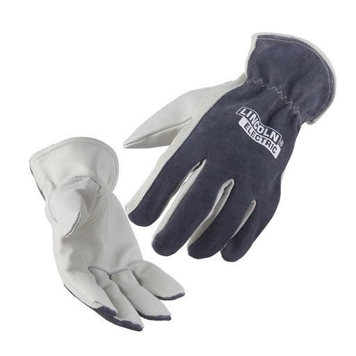 Lincoln Traditional Grey Leather Drivers Gloves - K3769 - In use