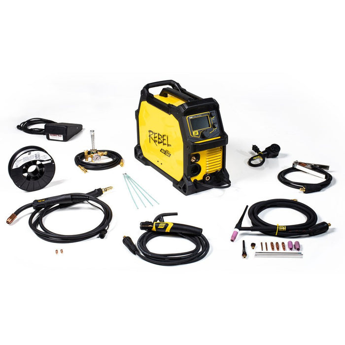 ESAB Rebel 205ic AC/DC Multiprocess Welder - Complete Package