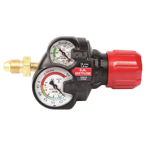 Victor Edge 2.0 ESS42 HD Acetylene Regulator, CGA 510 - 0781-3602