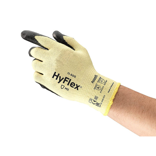 Ansell Hyflex Cut-Resistant Palm Nitrile Gloves, 12/pk - 11-500