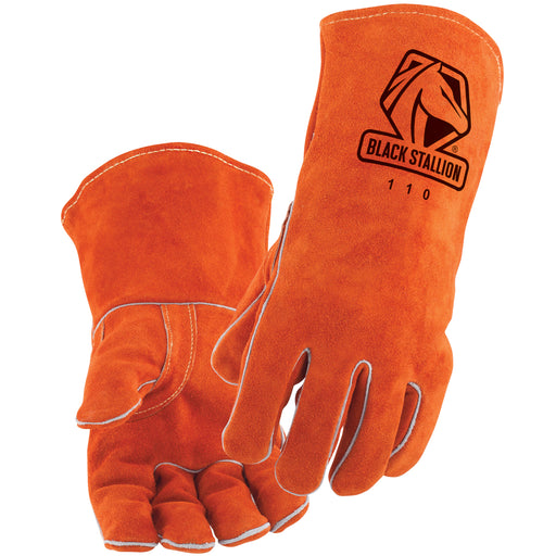 Black Stallion 110 - Standard Split Cowhide Stick Welding Gloves - 110