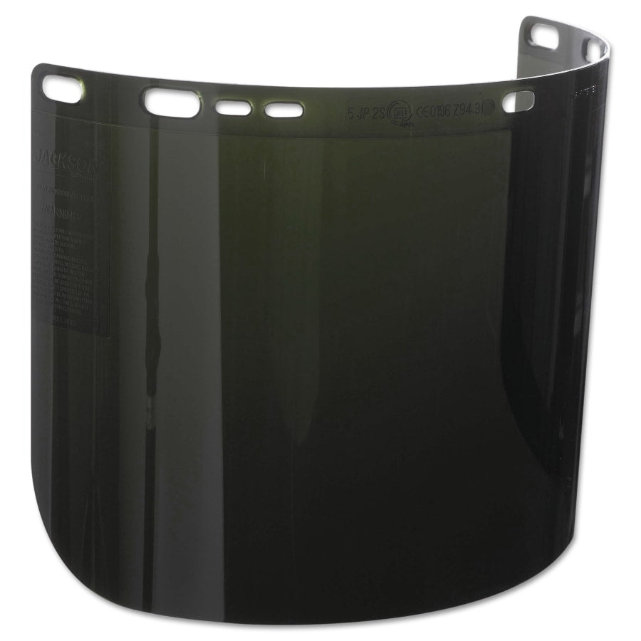 "Jackson F50 Polycarbonate Face Shield, 3465, IR/UV 5.0, 15 1/2"" x 8"" - 29080"