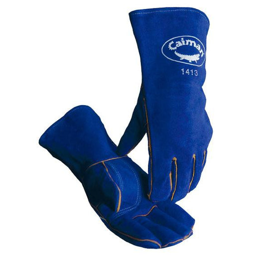 Caiman Standard Value Gloves Blue Reinforced Palm - 12/pk - 1413