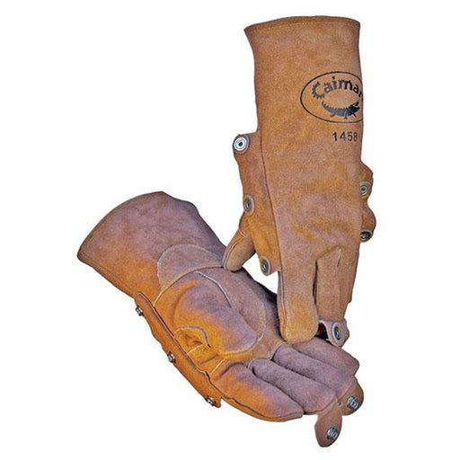 Caiman 1458 High Heat Series Gloves Cowhide Brown 12/pk - 1458