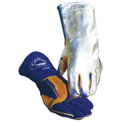 Caiman High Heat Gloves Side Cowhide BL Rayon Back - 12/pk - 1459