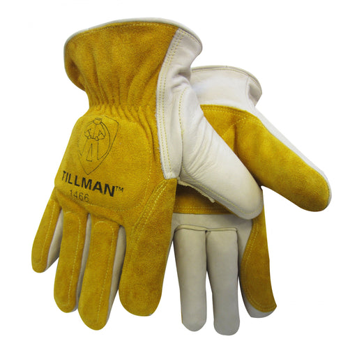 Tillman Leather Back Cowhide Double Palm Driver Gloves - 1466