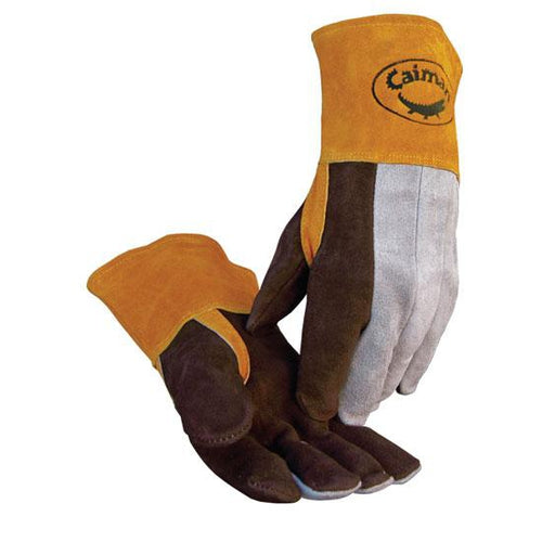 Caiman High Heat Series Gloves Side Split Cowhide Brown - 12/pk - 1469
