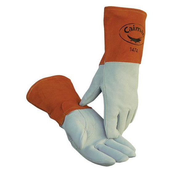 Caiman Luxury Pro Glove Am. White Tail Deersplit Leather 12/pk - 1474