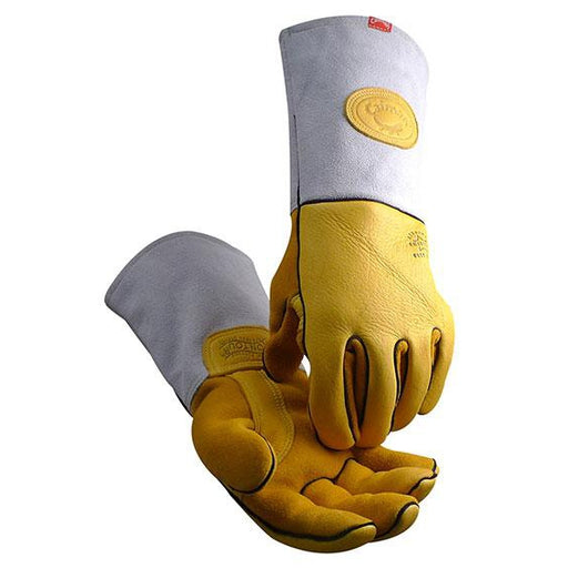 Caiman Luxury Pro Gloves Gold Deerskin Leather - 1485
