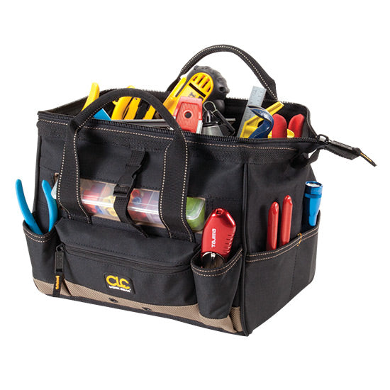 "CLC 12"" Tool Bag w/ Top-Side Plastic Parts - 1533"