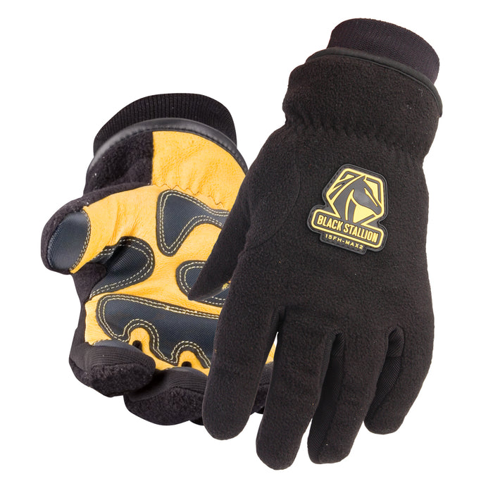 Black Stallion Pigskin Water Resistant Winter Glove - 15FH-MAX2