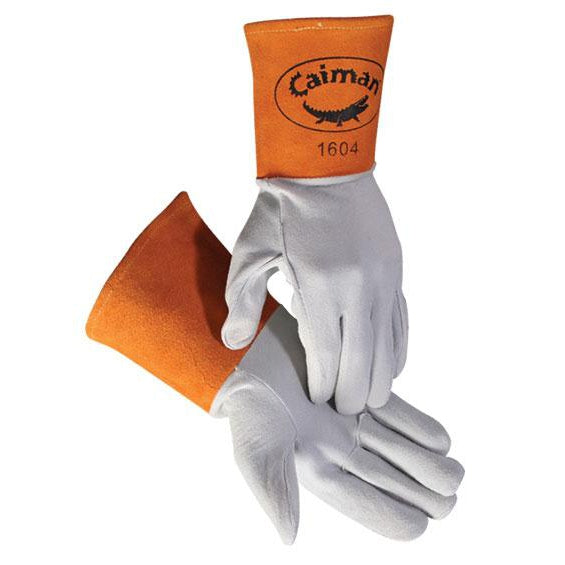 Caiman MIG/TIG Gloves American White Tail Deer Leather 12/pk - 1604