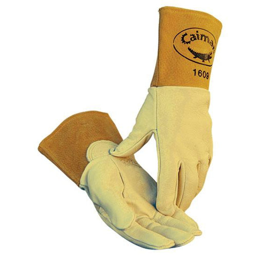 Caiman MIG/TIG Series Gloves Top Cow Grain Leather - 12/pk - 1609