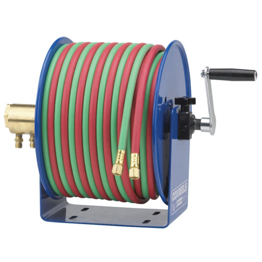 Coxreels Twin-Line Welding 100 ft Hose Reel w/ Hose - 112W-1-100