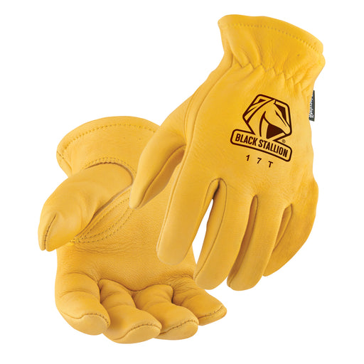 Black Stallion Elkskin Thinsulate Insulation Driving Gloves - 17T