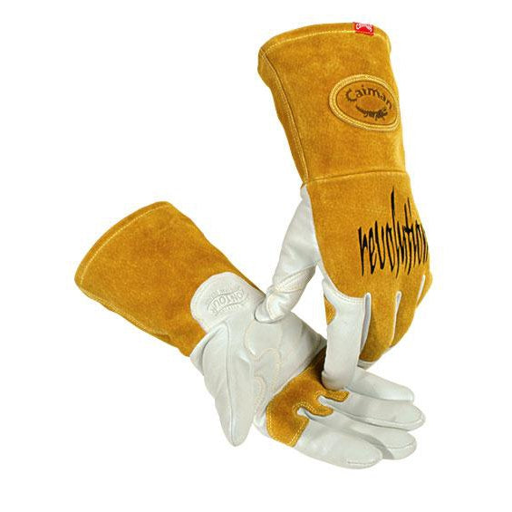 Caiman Goatskin Leather White Kontour TIG/MIG Gloves - 1868