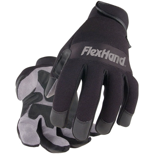 Black Stallion FlexHand Value-Priced Mechanics Glove - 19FX-BLK