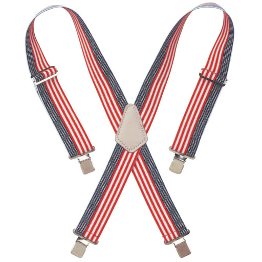 "CLC Red White & Blue 2"" Heavy-Duty Work Suspenders - 110USA"