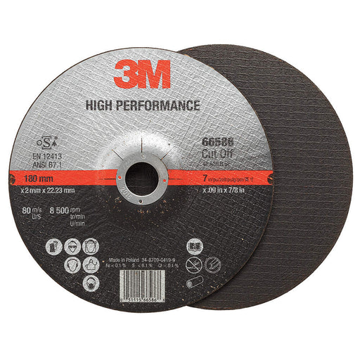 3M High Performance Cut-Off Wheel T27 7 x .09 x 7/8 50/case - 66586