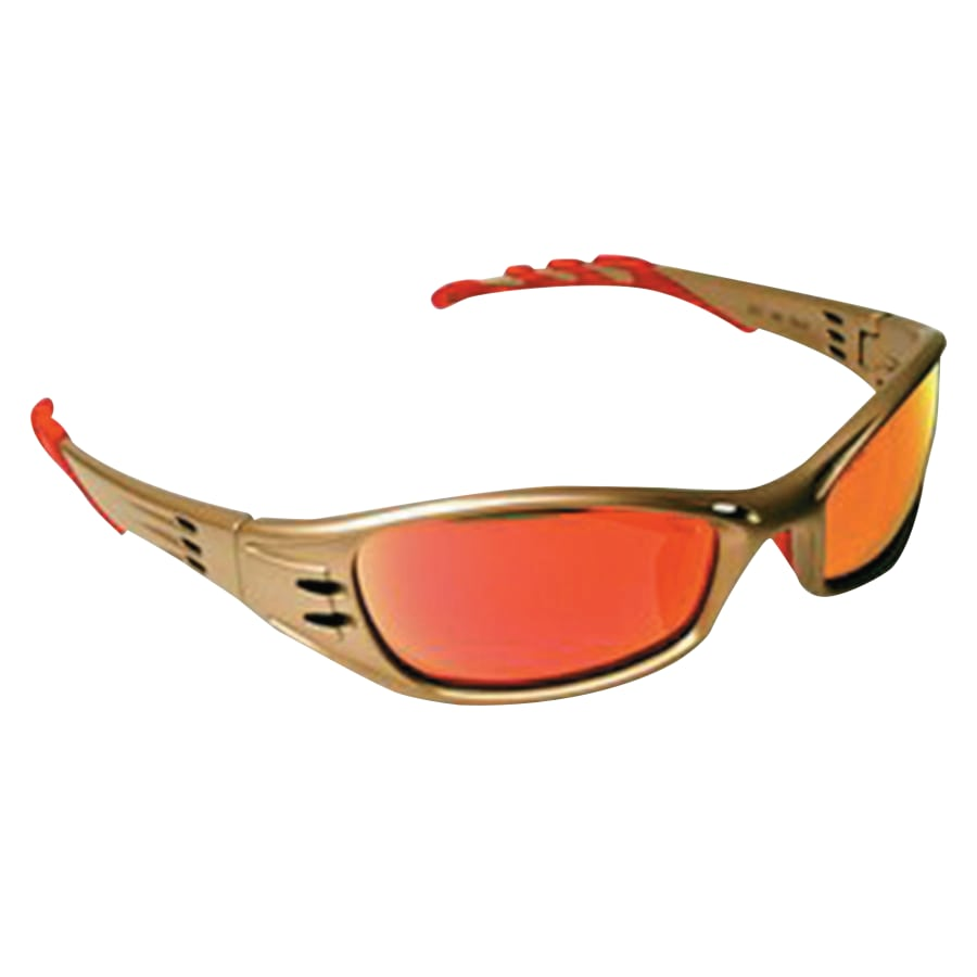 AO Safety Fuel Safety Glasses w/ Red Mirror Anit-Fog Lens - 11640-00000-10
