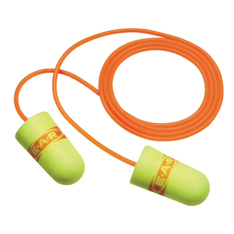 E-A-R SuperFit Polyurethane Corded Earplugs, 200/pk - 311-1254