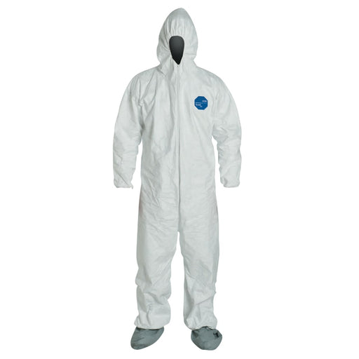 DuPont Tyvek Coveralls w/ Attached Hood and Boots, 25/pk - TY122S