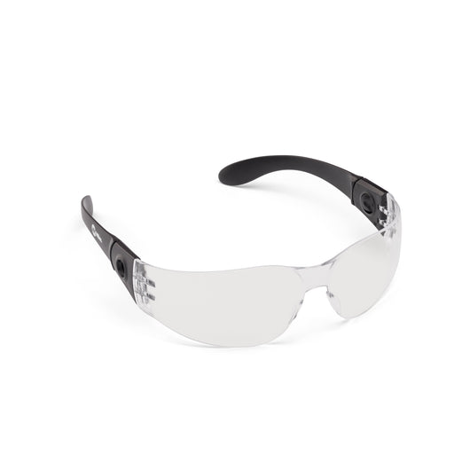 Miller Electric Clear Safety Glasses from the right side with detachable temples