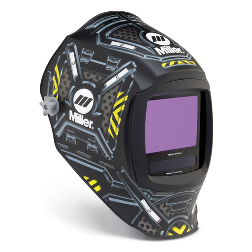 Miller Digital Infinity Black Ops Welding Helmet from the side 280047
