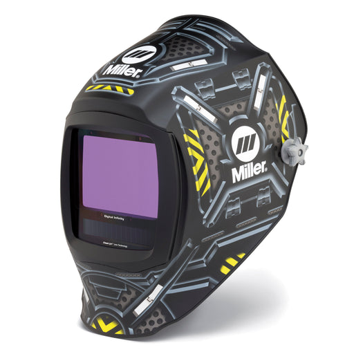 Miller Digital Infinity Black Ops w Clear Light Lens Helmet from the left -280047