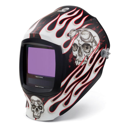 Miller Digital Infinity Departed w Clear Light Lens Helmet from the left - 280048