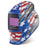 Miller Digital Elite Stars and Stripes w Clear Light Lens Helmet from the left - 281002