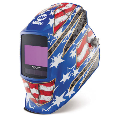 Miller Digital Elite w Clear Lens Helmet - Stars/Stripes III - 281002