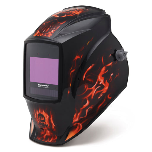 Miller Digital Elite Inferno w Clear Light Lens Helmet from the left - 281003