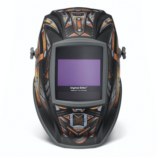 Miller 281009 Gear Box Digital Elite shown from the front of the helmet