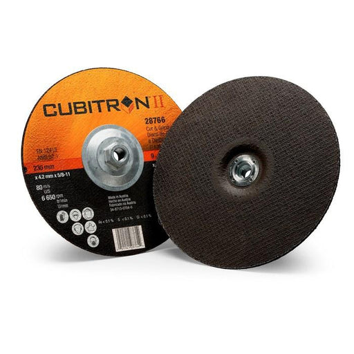 3M Cubitron II Cut and Grind Wheel T27 9 inx1/8 in x 5/8-11 in - 28766