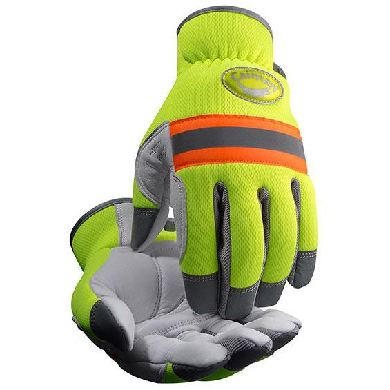 Caiman 2908 White Sheep Grain, Hi-Vis Reflective-12/PK - 2908