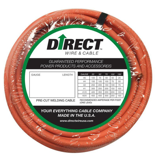 Direct Wire #2 Ultra-Flex Welding Cable -  100ft - #2_100