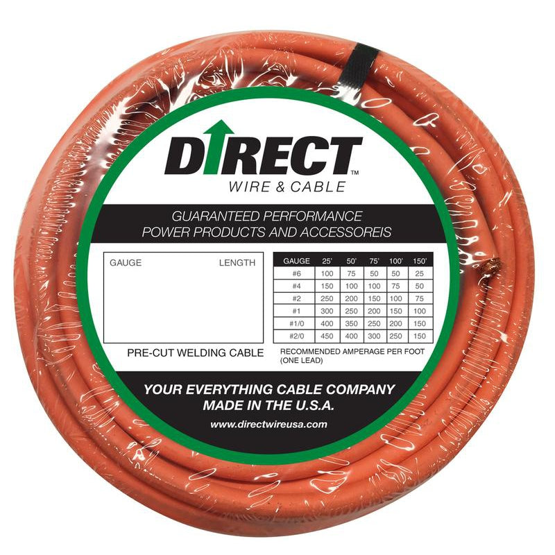 Direct Wire #2 Ultra-Flex Welding Cable -  25ft - #2_25