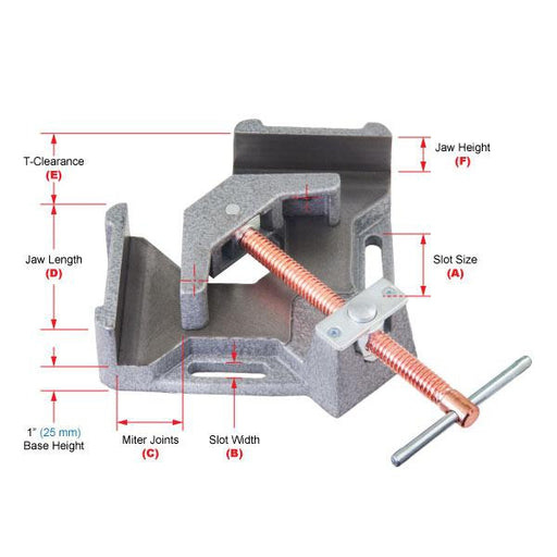 Strong Hand Tools Multi-Axis Welder's Angle Clamp, 2-Axis - WAC35D