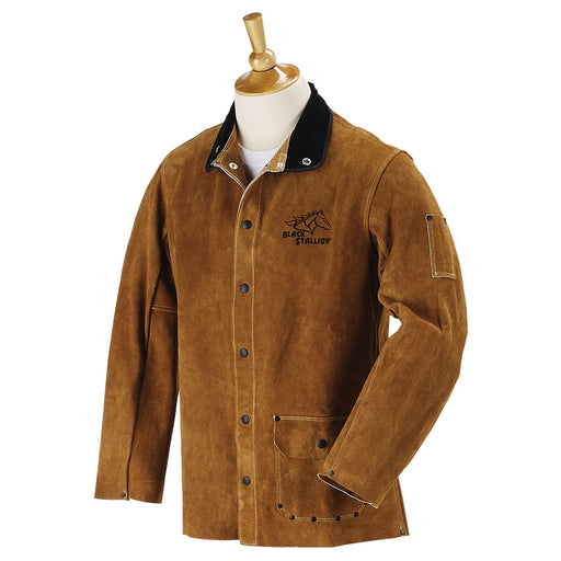 Black Stallion Split Cowhide Welding Jacket - 30WC