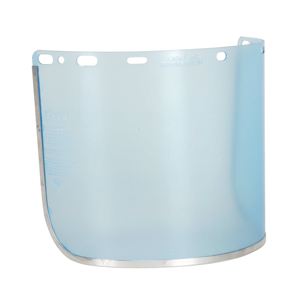 "MCR Safety Face Shield, 8""x16"" .040, Clear PETG Aluminum Bound - 181640A"