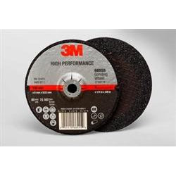 3M High Performance Grinding Wheel T27 4.5 x 1/4 x 7/8 20/case - 66554