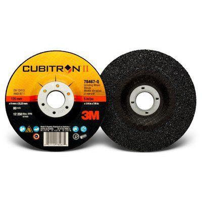 3M Cubitron II Depressed Center Grinding Wheel T27 5x1/4x7/8, 20/cs - 78467