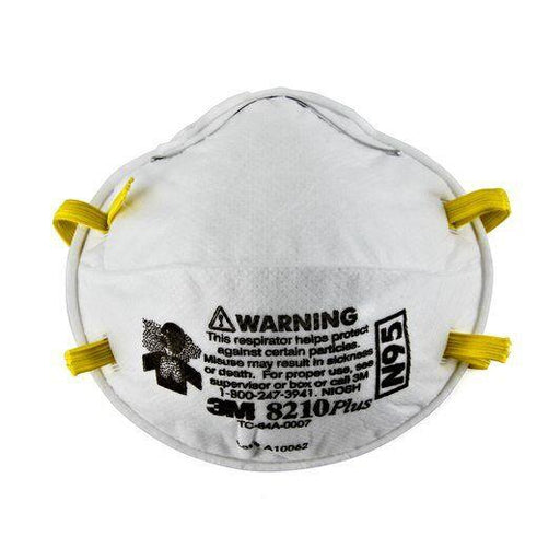 3M Particulate Respirators PLUS - N95 - 20/pk - 8210PLUS