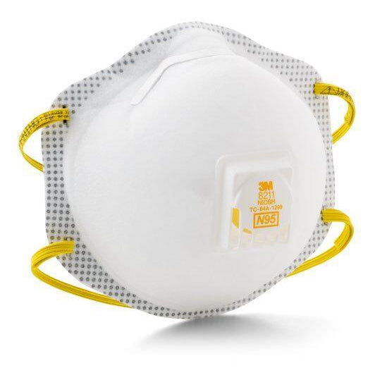 3M N95 Particulate Respirators w/ Comfortable Face Seal, 10/pk - 8211